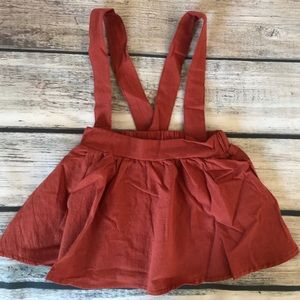 Other - Brand New Rust Baby Toddler Suspender Skirt 2-3 Y